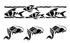 Two Fish Borders Stencils for Painting Stencil for Floors &