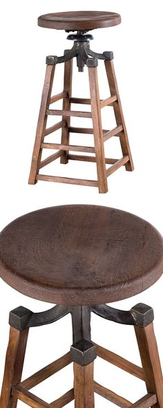 The Jamieson Stool reflects a popular urban-industrial trend found among the best interior designs in the 21st century. Reflecting the charming motif of an era past, its plantation-cut mango wood base ...  Find the Jameson Stool, as seen in the On Scouts Honor Collection at http://dotandbo.com/collections/on-scouts-honor?utm_source=pinterest&utm_medium=organic&db_sku=130694
