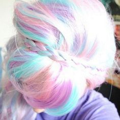 cotton candy hair. This is the only reason why I'd want blonde hair....for the colors!!