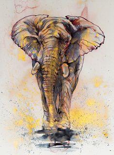 Elelphant in gold by kovacsannabrigitta on DeviantArt