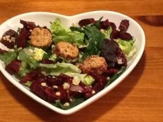 Roasted Beet Salad with Goat Cheese Medallions by Coleen Hayden  In the produce department, we are starting to see the return of the spring vegetables!  So here we go!  For the next few weeks, we will do a mini-series featuring spring vegetables…last week we featured an Asparagus Pasta Bake.   Today's recipe is a salad with roasted beets, and baby lettuces such as arugula and kale.  YUMMMMMY!  Enjoy!
