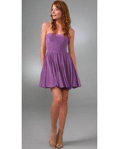 Rebecca taylor Night Out Dress in Purple | Lyst