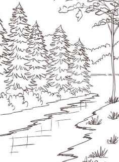 Small Garden Landscaping Ideas - Southern Landscaping Front Yard Curb Appeal - Landscaping Ideas Curb Appeal Entrance - - Landscaping Ideas For Shade Shrubs - Tree Coloring Page, Coloring Pages To Print, Colouring Pages, Adult Coloring Pages, Coloring Books, Art Drawings For Kids, Colorful Drawings, Easy Drawings, Landscape Pencil Drawings