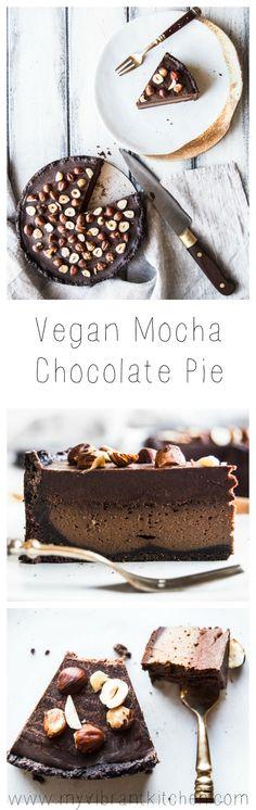 My Vibrant Kitchen | Vegan Mocha Chocolate Pie – Plant Based Cooks | http://myvibrantkitchen.com