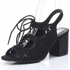 Shoespie Middle Heel Lace Up Sandals