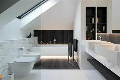 Loft Bathroom, Bathroom Kids, Modern Bathroom, Small Bathroom, House Extension Design, House Design, Loft Room, Architect House, Modern House Plans