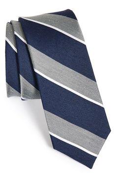 Men's The Tie Bar Stripe Silk Blend Tie