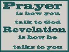 Prayer/Revelation Handout for Young Womens