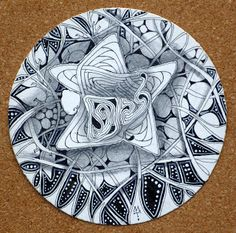 Zentangle - wow that has such depth, being round i understand this would be a zendala, by Maria Thomas