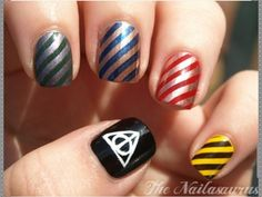 HARRY POTTER NAILS AHDNDOSM