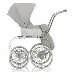 Classica Stroller - Light Gray & White