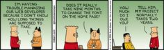 Estimating Finish Times - Dilbert Comic Strip on 2016-10-19 | Dilbert by Scott Adams