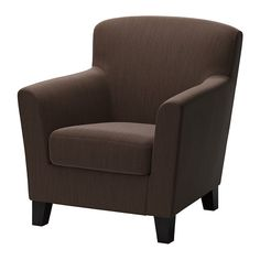 IKEA - EKENÄS, Chair, Hensta dark brown, , The high back provides good support for your neck and head.Durable cover of chenille quality with a slight sheen and a soft feel.