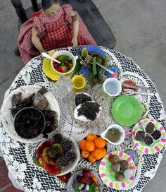 tea party from the mud kitchen