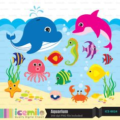 Under the Sea Digital Clipart by IcemiloClipart on Etsy, $5.00