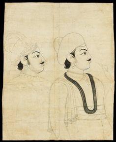 Type: Portraiture, court life, and mythological scenes - Royal portraits; Title: 'Maharaja Pratap Singh', Jaipur, c. Tantra Art, Asian Tattoos, India Culture, Indian Folk Art, Lord Krishna Images, Thing 1, Arabian Nights, Indian Paintings, Small Art