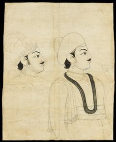 Style: Rajasthani; Type: Portraiture, court life, and mythological scenes - Royal portraits; Title: 'Maharaja Pratap Singh', Jaipur, c. 1790