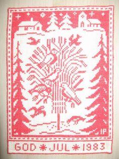 Cross Stitch Christmas Ornaments, Christmas Embroidery, Christmas Cross, Christmas Tree, Danish Christmas, Nordic Christmas, Xmas, Cross Stitch Embroidery, Cross Stitch Patterns