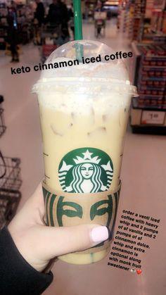 11 Keto Diet Fat Burning Drinks At Starbucks To Help You Lose Weight - nofastdrivecar Café Starbucks, Starbucks Secret Menu Drinks, How To Order Starbucks, Low Calorie Starbucks Drinks, Keto Diet Drinks, Keto Drink, Healthy Drinks, Eating Healthy, Healthy Foods