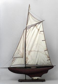 English Victorian accessories model/ship painted