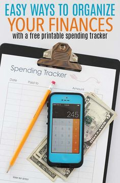 Organize your finances and keep track of your spending with these easy tips! Simple systems to track your money and keep tabs on expenses - includes a free printable spending tracker planner page!
