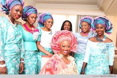 Nigerian Wedding: Stunning & Colorful Aso-ebi Style Ideas   Nigerian Wedding