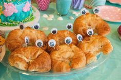 Crab sandwiches for a mermaid or under the sea themed party. These could work for Octonauts party First Birthday Parties, Birthday Party Themes, First Birthdays, Birthday Ideas, 4th Birthday, Mermaid Birthday Party Ideas, Garden Birthday, Moana Birthday, Fete Marie