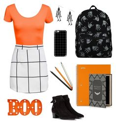 """Halloween for school"" by dardar67 on Polyvore featuring Yves Saint Laurent, Casetify, Jac Zagoory Designs and claire's"