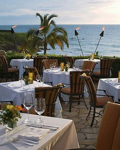 Four Season's, Maui - amazing place to watch the sunset......where we ate our wedding night! Best food I've ever had!