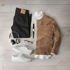 11 Insanely Cool Outfit Formulas For The Fall - Fall Outfits Cute Fall Outfits, Casual Outfits, Men Casual, Smart Casual, Casual Shoes, Mode Outfits, Fashion Outfits, Fashion Trends, Mode Man