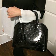 Louis Vuitton Alma PM Vernis Noir Magnetique