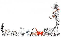 Lovisa Burfitt's mademoiselle Oiseau (note books with the cat design available at Akademibokhandeln)