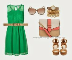 green dress - day outfit