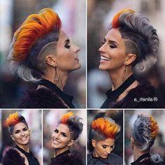 30 Shaved Sides Haircut Female Ideas in 2019 - Love this Hair Mowhawk Hairstyles, Undercut Hairstyles, Cool Hairstyles, Mohawk Hairstyles For Women, Shaved Side Haircut, Half Shaved Hair, Shaved Hair Women, Short Hair Shaved Sides, Shaved Pixie