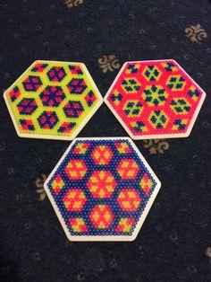 Hama beads hexagon 5
