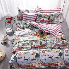 Beautiful Queen Size bedding with cartoon prints for kids' bedroom. Let your child sleep in harmony! Like it? $45.99