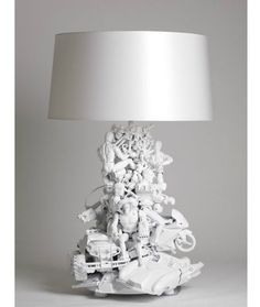 Repurposing Old Toys Into Awesome Home Decor - Can't wait to make this lamp!