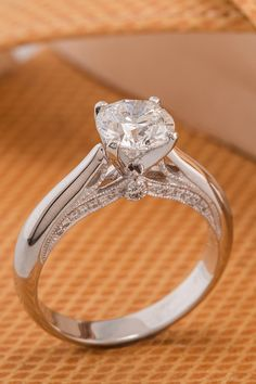 122 best Round Diamond Engagement Rings images on