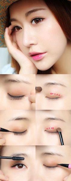 Image via We Heart It #ulzzang #koreanmakeup #ulzzangmakeup #makeup tutorial