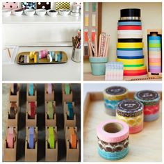 Many inspirations for using masking tape.
