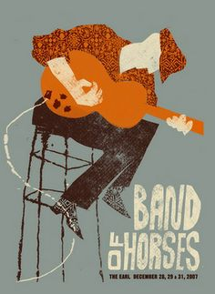 Band Of Horses Concert Poster By Methane Studios