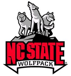 North Carolina State Wolfpack Alternate Logo (2006) - Pack of wolves on rock with script