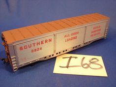 I68 VINTAGE HO SCALE TRAIN 56' ALL DOOR BOXCAR 9924 SOUTHERN SUPER CUSHION
