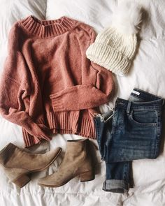 I like this whole outfit and colors, but I do not like sweaters that are short