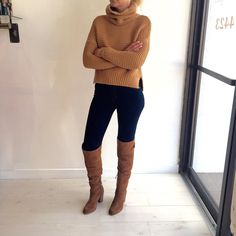 Feeling sassy this Friday? We feel ya!  We just can't handle the obsession for our new sweater... Can you blame us?! This camel sweater is the perfect fall piece, not to heavy yet still warm! Great for dressing up or down - and so shabby chic if I do say so myself  // Sweater ($255), Jeans ($168), Knee High Boots ($280) #fallfashion #style #dallas #trendy #mineootd