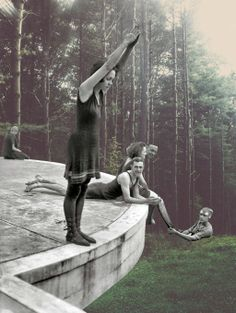 The surrealist collages by Merve Ozaslan are based on the relation between nature and the humanity. Photomontage, Surrealist Collage, Collage Art Mixed Media, Collage Collage, Art Collages, Collage Ideas, Weekend In London, Galleries In London, Trampolines