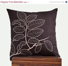 Brown Pillow Cover Decorative Pillow Cover Throw by KainKain