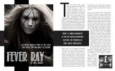 Magazine spreads by Kayla Tompkins, via Behance