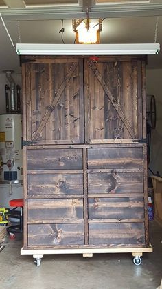 Custom Build Armoire. Knotty Pine With A Layered Finish To Get The Desired  Color.