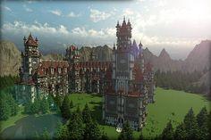Palace Of Sakara Minecraft World Save Minecraft Palace, Pc Minecraft, Minecraft Building Blueprints, Minecraft Castle, Minecraft Medieval, Minecraft House Designs, Minecraft Construction, Amazing Minecraft, Minecraft Tutorial